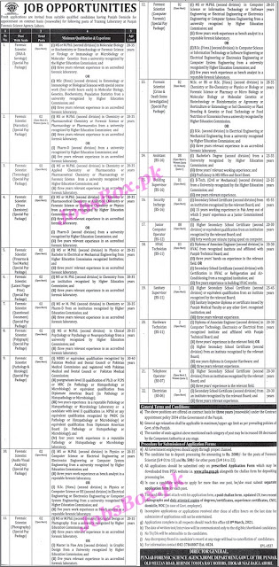 punjab-forensic-science-agency-pfsa-jobs-2021-application-form-download
