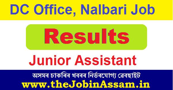 DC Nalbari Junior Assistant Result 2020: Download Admit Card for Practical Test