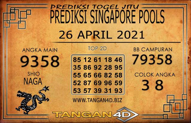 PREDIKSI TOGEL SINGAPORE TANGAN4D 26 APRIL 2021