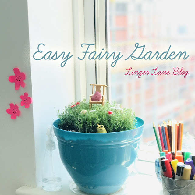 Easy Fairy Garden by Linzer Lane Blog