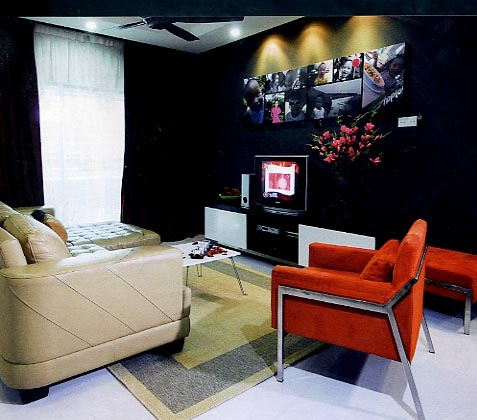 Koordinasi Ruang Yang Sempurna Diselaraskan Mengikut Keluasan Ada Pemilihan Sofa Berbentuk L Diletn Di Sudut Sangat Praktikal