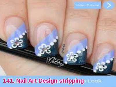 Nail Art Design stripping