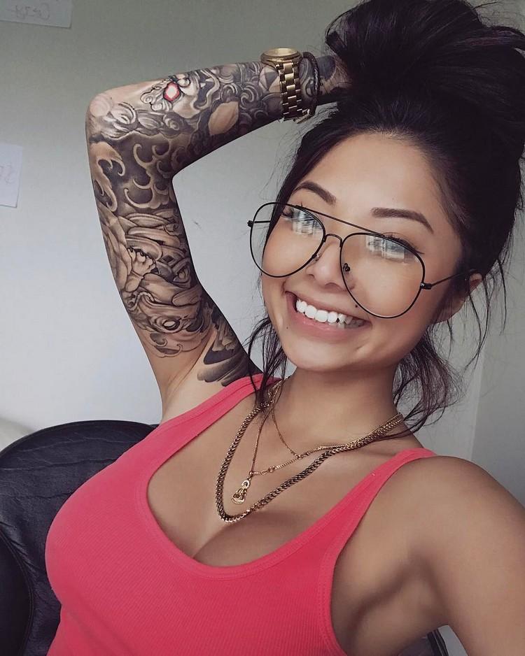 Tattoo models Cassie Trinh