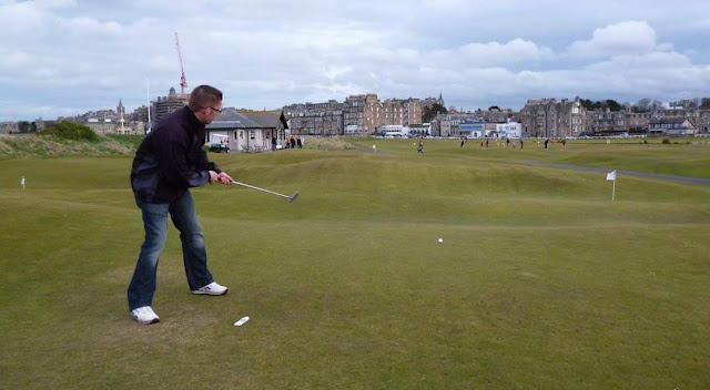 Playing The Himalayas course at the St Andrews Ladies' Putting Club in 2012