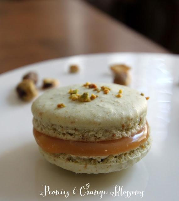 Pistachio Salted Caramel Macarons