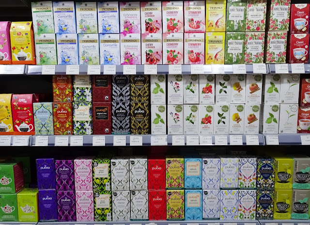 A range of flavoured teas