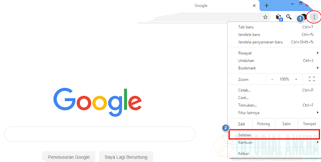 Cara Menjadikan Google sebagai mesin telusur default di Google Chrome
