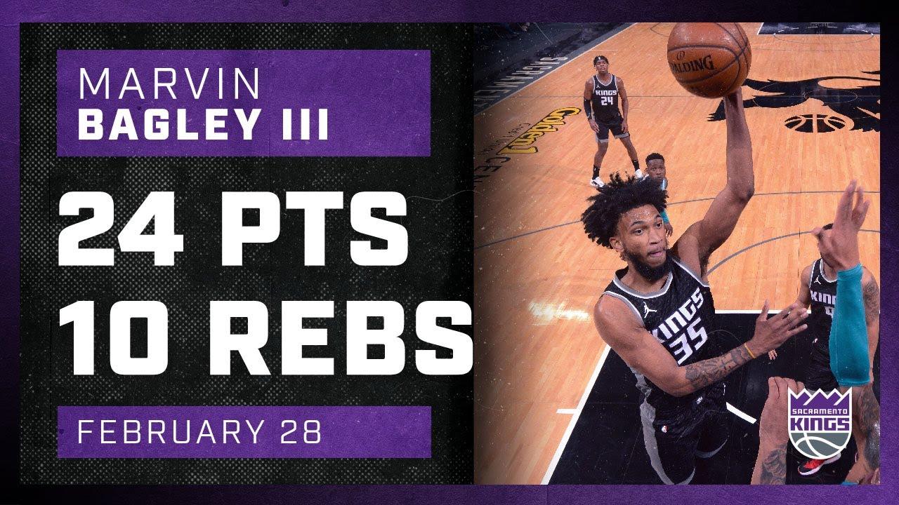 Marvin Bagley 24pts 10reb vs CHO | February 28, 2021 | 2020-21 NBA Season
