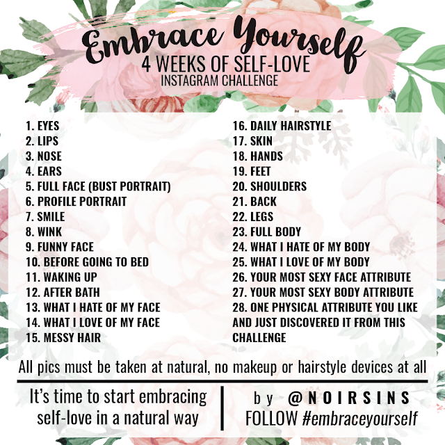 Instagram Challenge Embrace yourself