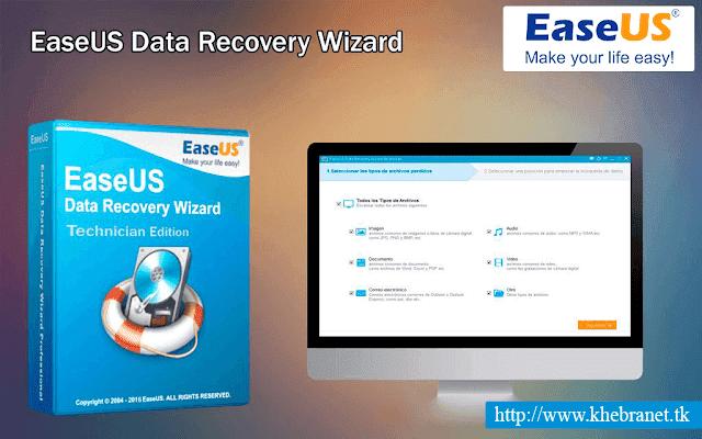 البرنامج العملاق لاسترجاع الملفات المحذوفة من القرص الصلب EaseUS Data RecoveryWizard