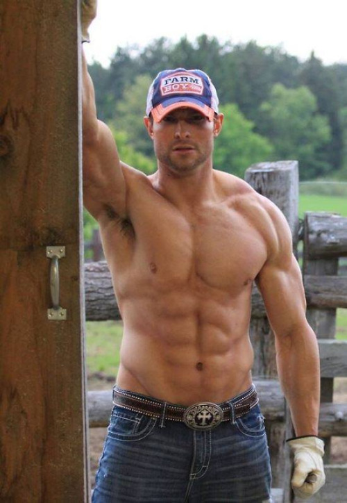 country-hunks-muscular-shirtless-farm-man-handsome-strong-straight-daddy
