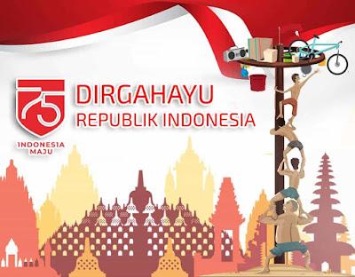 gambar ucapan hut ri ke 75 indonesia maju