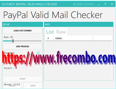 Paypal Valid Mail Checker AUTOBOT By Optim OS Prime