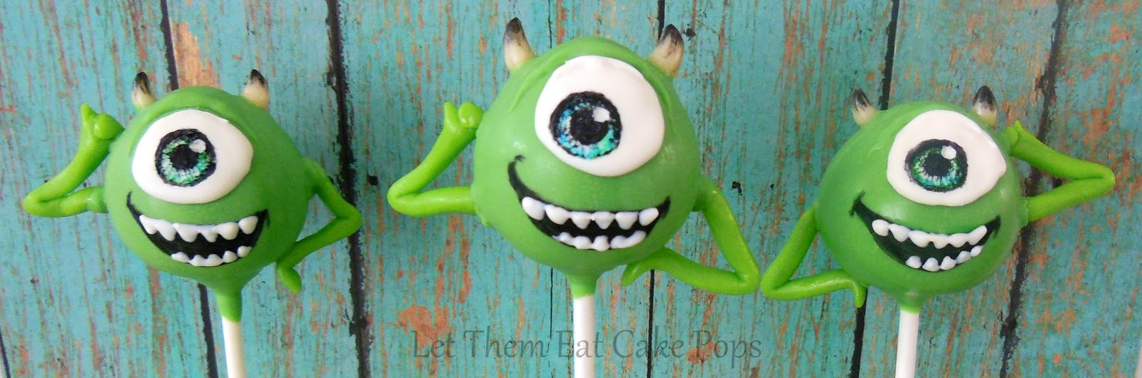 Mike Wasowski Cake Pops For Monsters Inc By Let Them Eat