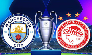 مشاهدة مباراة مانشستر سيتي و أولمبياكوس اليوم الثلاثاء دوري ابطال اوروبا