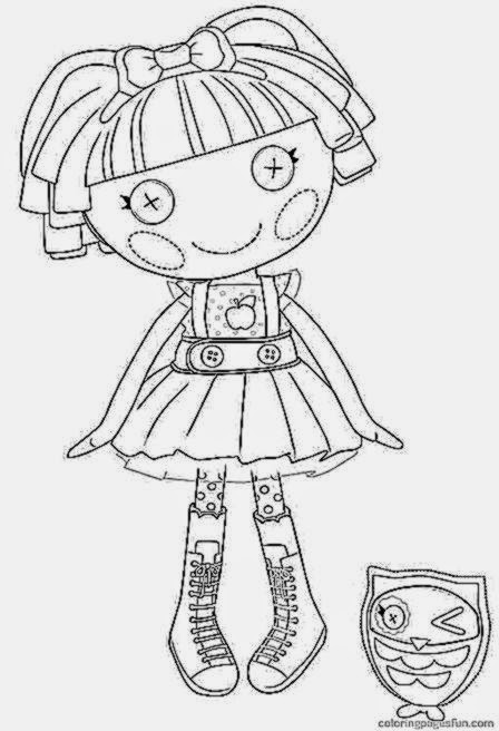 Free Coloring Pictures Lalaloopsy Coloring Pages