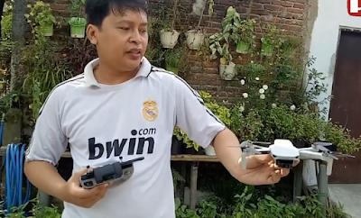 Begini Cara Menerbangkan dan Menurunkan Drone dengan Tangan Saja | DJI MINI 2