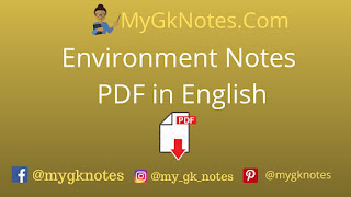 Environment Notes PDF in English