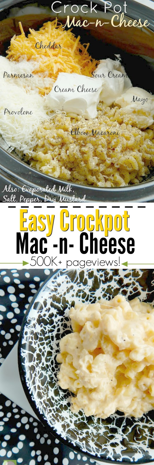 crockpot mac-n-cheese #sweetsavoryeats #macandcheese