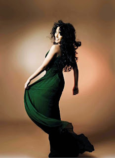 amrita-rao-salon-international-magazine-green-dress