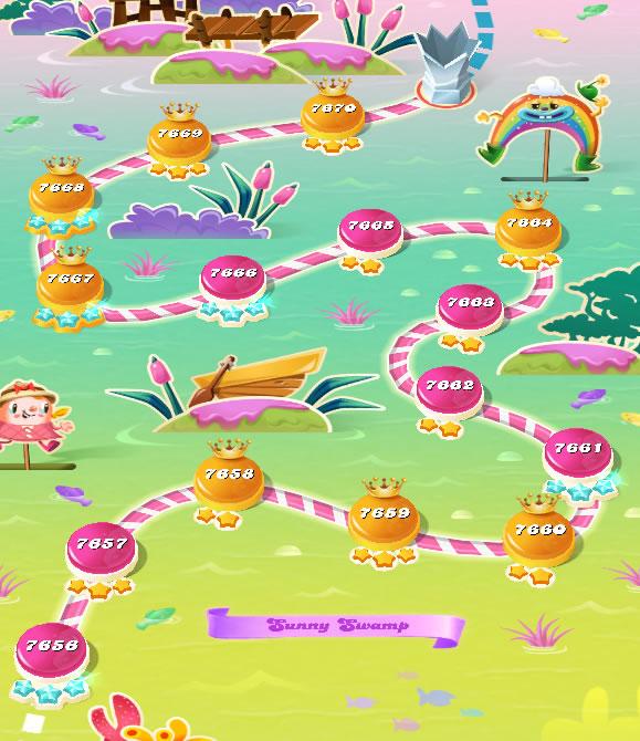 Candy Crush Saga level 7656-7670
