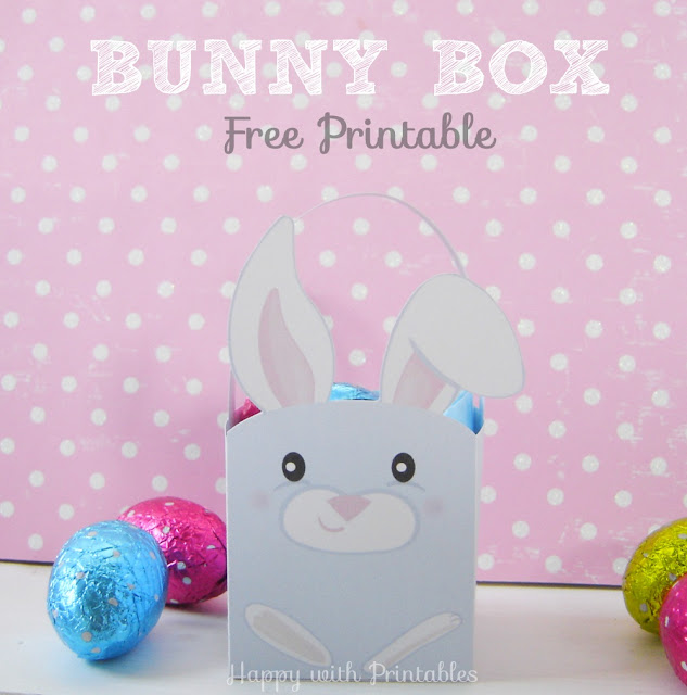 bunny box, easter printable, free printable easter, easter free printable, bunny printable, free bunny printable, free easter box, bunny template