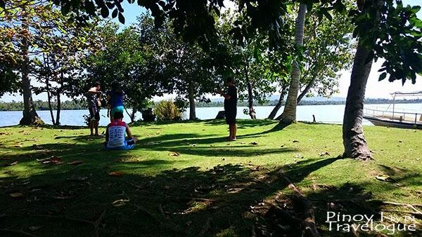 At Lake Danao's tiny islet