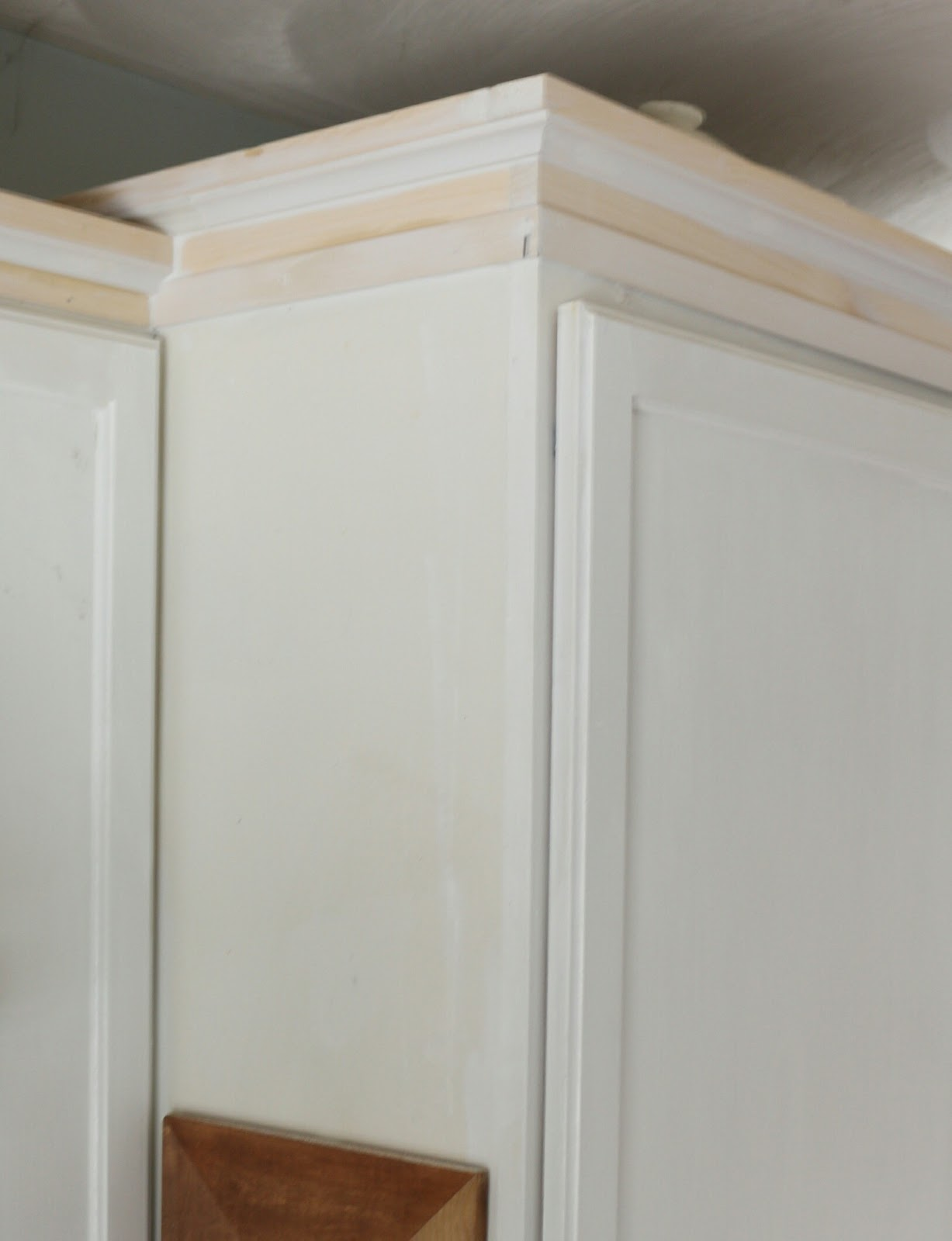 My DIY Kitchen Cabinet Crown Molding How to Fake the Look