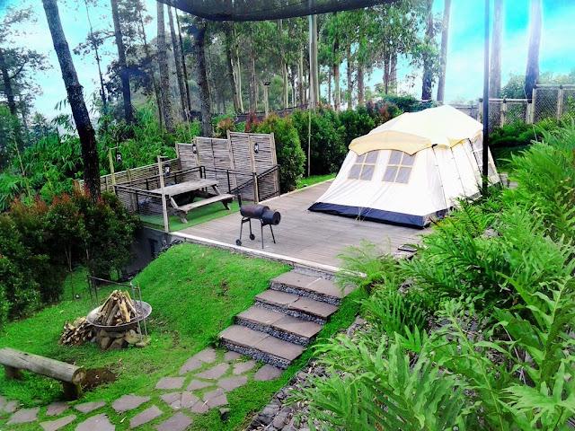 Aktivitas Camping dan berkemah Dusun Bambu Lembung