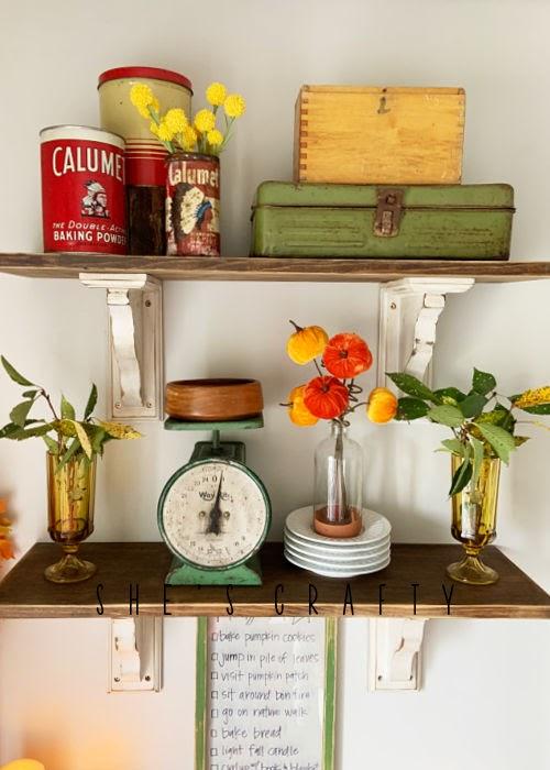 Fall Home Decor - Shelf Decor