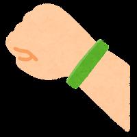 シリコンバンドのイラスト(緑)