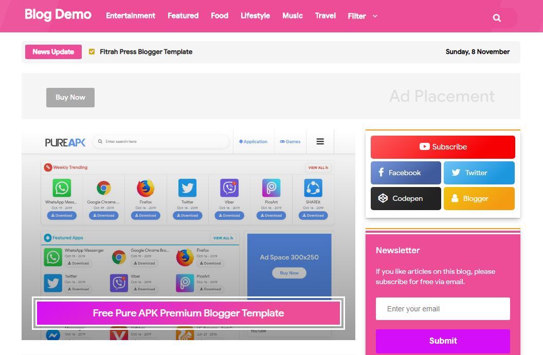 SEO Tech Pink V2 Responsive Blogger Template