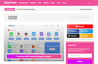 SEO Tech Pink V2 Responsive - Responsive Magazine Blogger Template free.