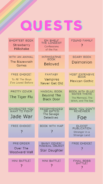 A rainbow grid listing the same books as in the main post.