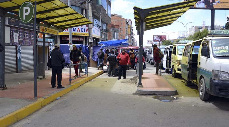 6 de Marzo es la principal avenida de la ciudad de El Alto