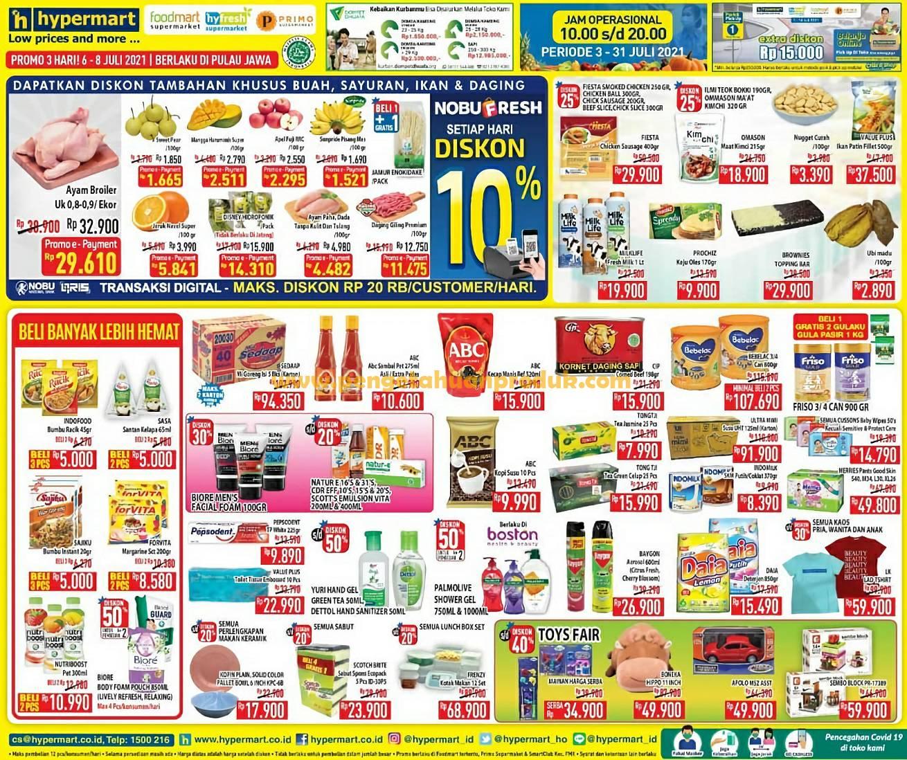 Katalog Promo HyperMart Weekday 6 - 8 Juli 2021