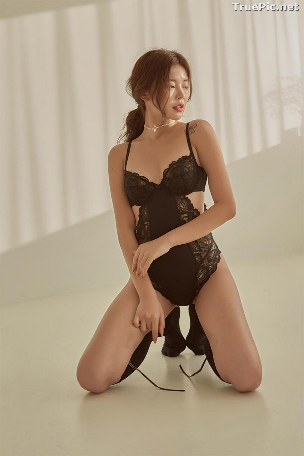 Image Korean Fashion Model - Da Yomi (다요미) - Lountess Spring Lingerie #1 - TruePic.net - Picture-8
