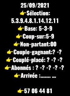 Pronostics quinté samedi Paris-Turf-100 % 25/09/2021