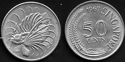 Singapore 50 cents 1979