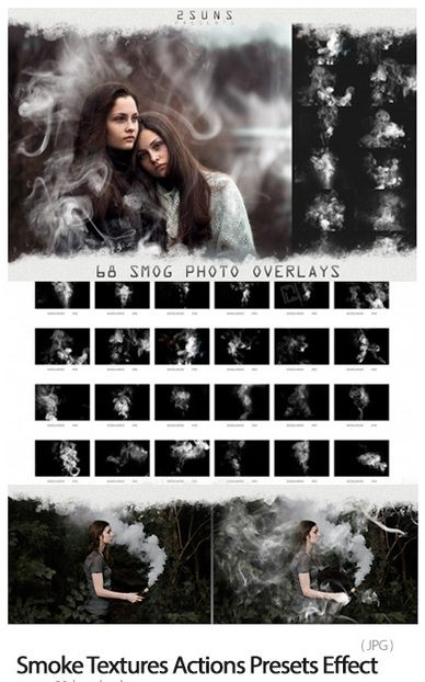 Smog, Fog, Smoke Overlays Textures Actions Presets Effect