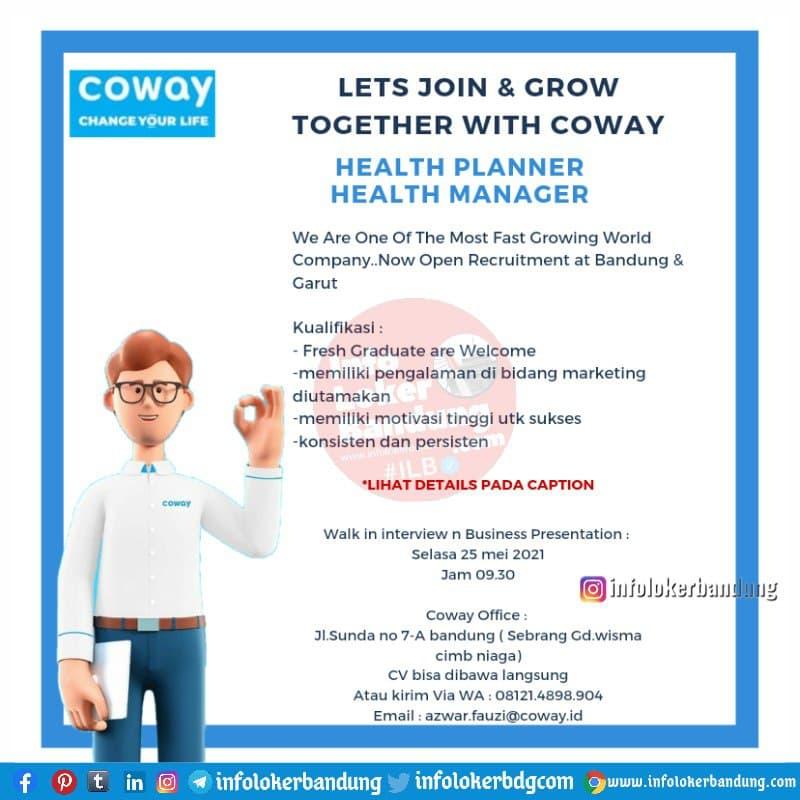 Walk In Interview 25 Mei 2021 Coway Bandung 2021