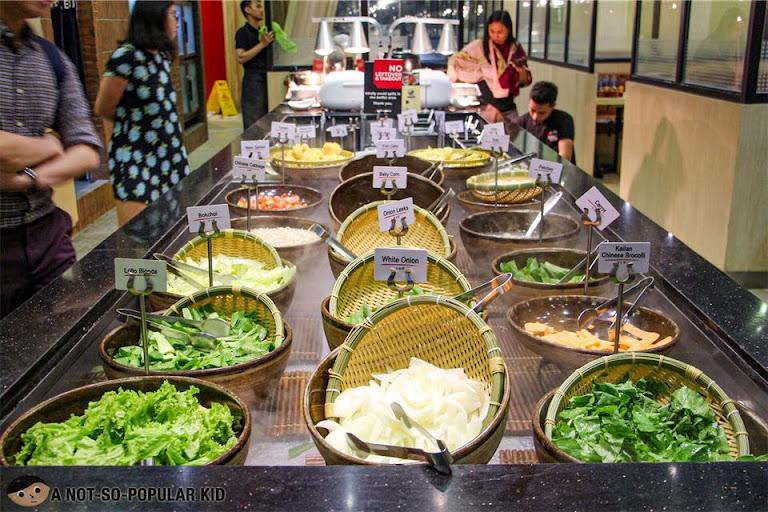 Vegetable Selection in Shaburi Unilimited Hotpot, BGC