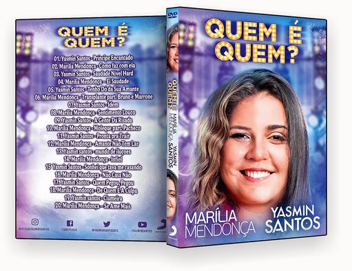 CAPA DVD – Marilia Mendonça & Yasmin santos Quem É Quem – ISO