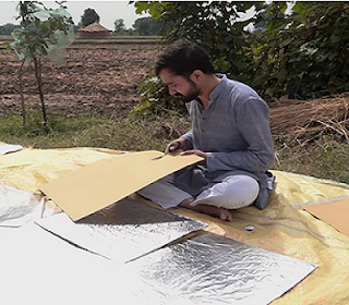 Zuber Saiyed is preparing a cheaper solar cooker