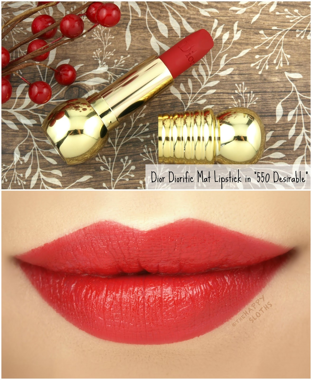 "Dior | Holiday 2018 Diorific Mat Lipstick in ""550 Desirable"": Review and Swatches"