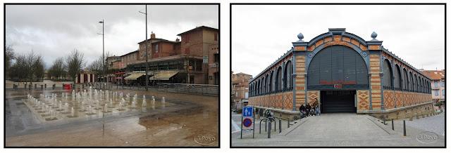 Plaza du Vigan y Mercado de Albi