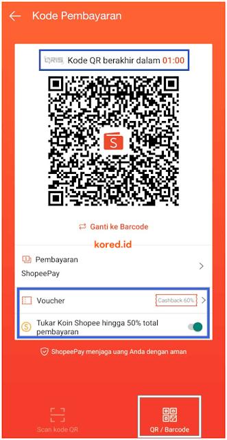 kode QR pembayaran shopeepay di alfamart