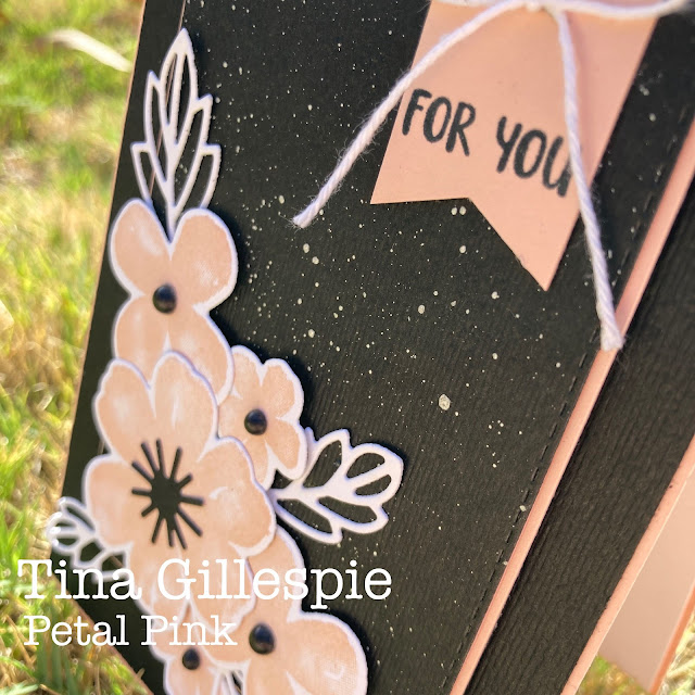 scissorspapercard, Stampin' Up!, Colour Creations, Pretty Perennials, Perennial Petals Dies, Stitched Rectangles Dies, Subtle 3DEF, Shimmer Paint