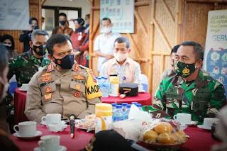 Kapolda Jateng dan Pangdam Tinjau Posko PPKM Mikro di Desa Lerep