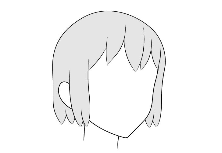 Gambar tampilan anime rambut 3/4